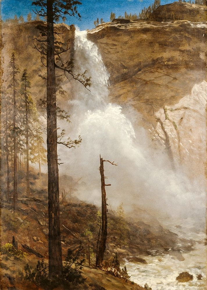 konfigurieren des Kunstdrucks in Wunschgröße Falls of Yosemite von Bierstadt, Albert