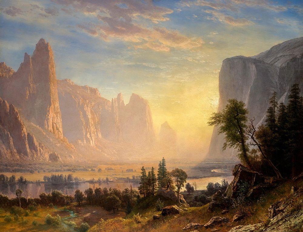 konfigurieren des Kunstdrucks in Wunschgröße Valley of the Yosemite von Bierstadt, Albert