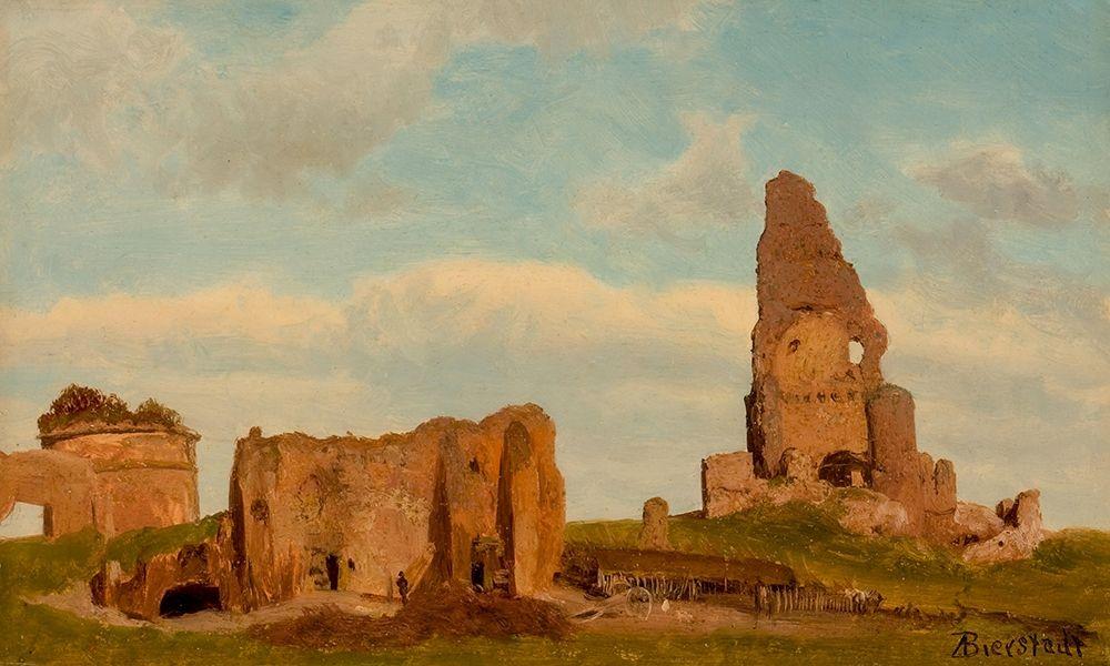 konfigurieren des Kunstdrucks in Wunschgröße Ruins-Campagna of Rome von Bierstadt, Albert