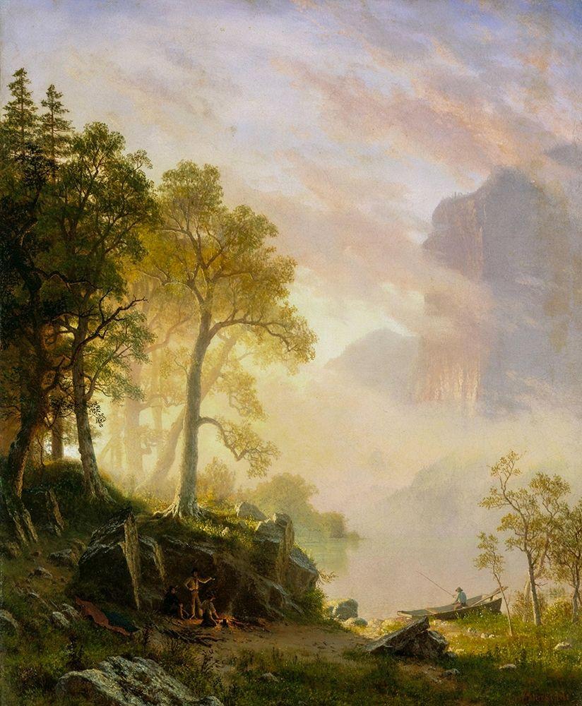 konfigurieren des Kunstdrucks in Wunschgröße The Merced River in Yosemite von Bierstadt, Albert