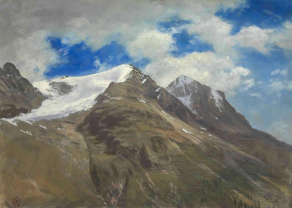 konfigurieren des Kunstdrucks in Wunschgröße Peaks in the Rockies von Bierstadt, Albert