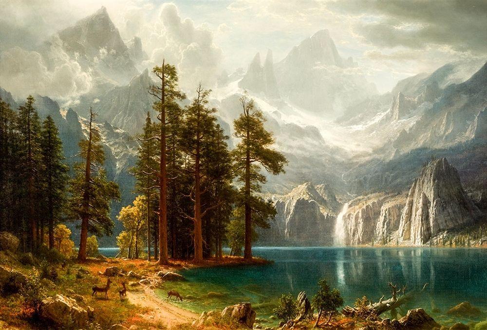 konfigurieren des Kunstdrucks in Wunschgröße Sierra Nevada von Bierstadt, Albert