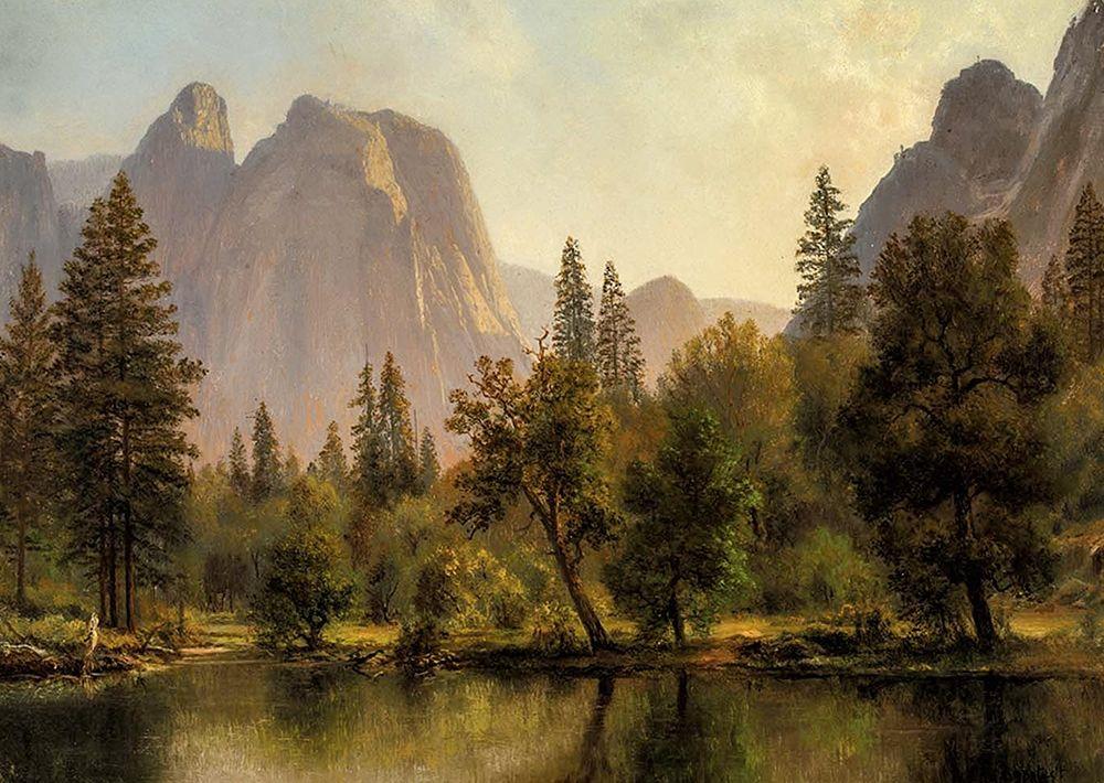 konfigurieren des Kunstdrucks in Wunschgröße Cathedral Rocks, Yosemite Valley von Bierstadt, Albert