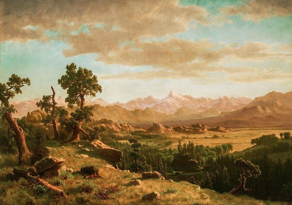 konfigurieren des Kunstdrucks in Wunschgröße Wind River Country von Bierstadt, Albert