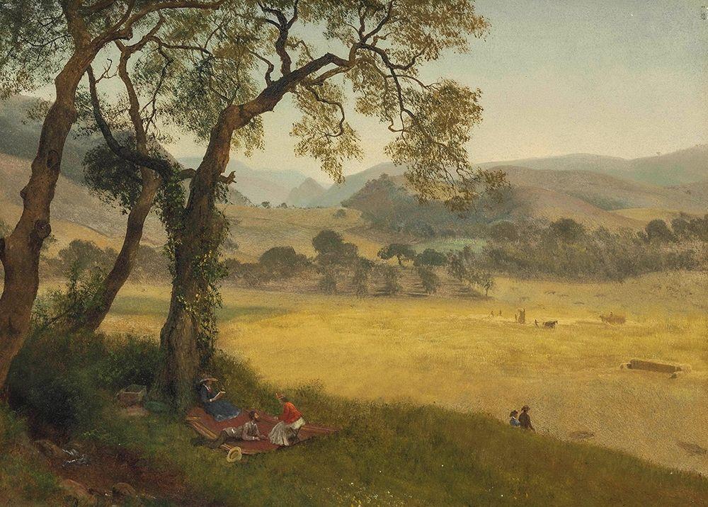 konfigurieren des Kunstdrucks in Wunschgröße A golden summer day near Oakland von Bierstadt, Albert