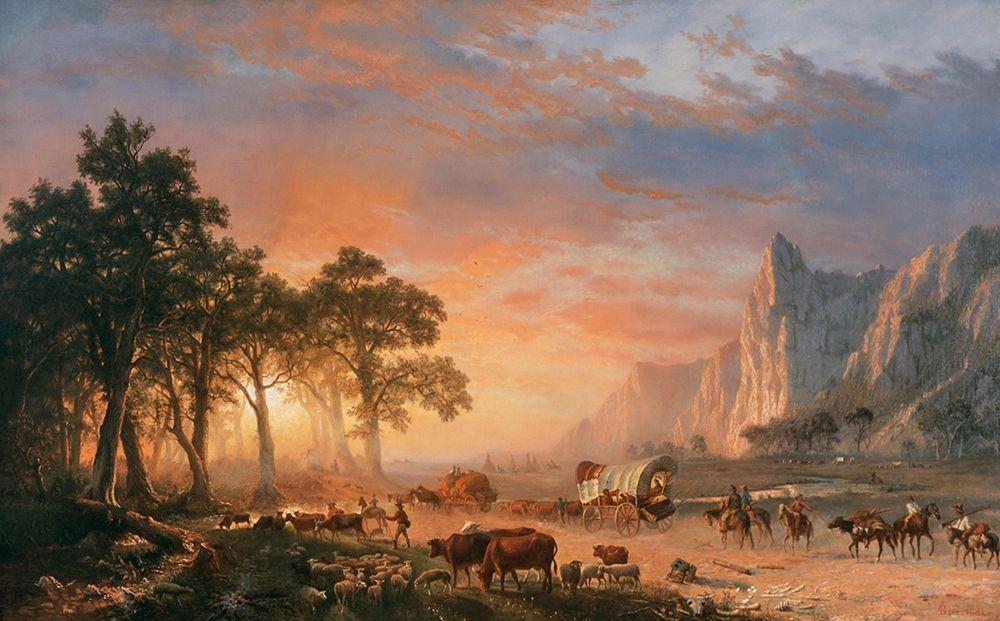konfigurieren des Kunstdrucks in Wunschgröße The Oregon Trail von Bierstadt, Albert
