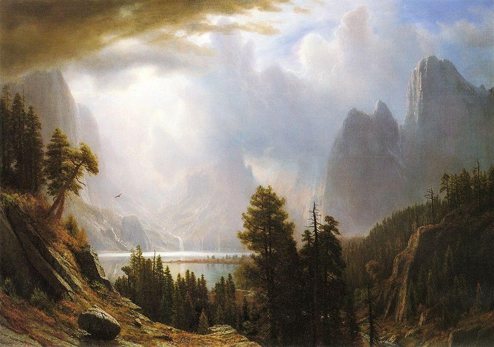 konfigurieren des Kunstdrucks in Wunschgröße King Lake, California von Bierstadt, Albert