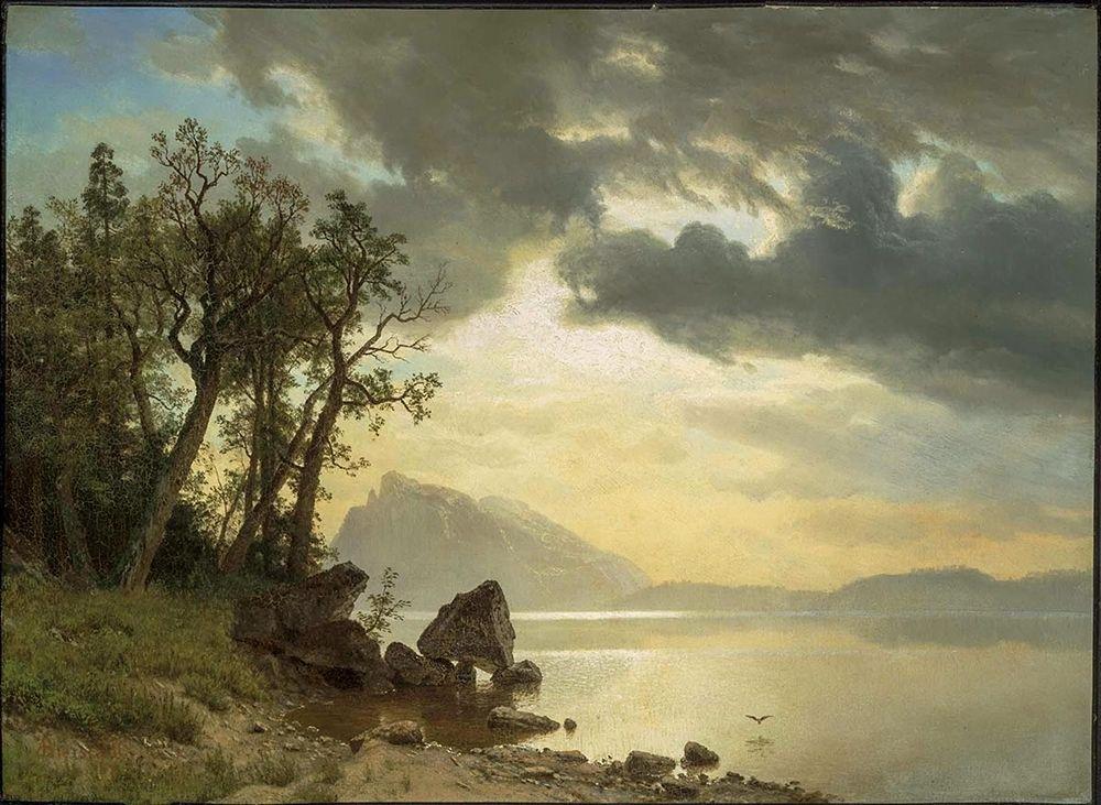 konfigurieren des Kunstdrucks in Wunschgröße Lake Tahoe, California von Bierstadt, Albert
