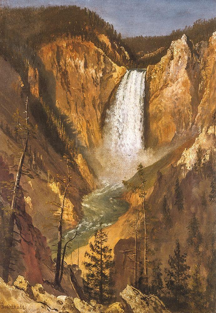 konfigurieren des Kunstdrucks in Wunschgröße Lower Falls of the Yellowstone von Bierstadt, Albert