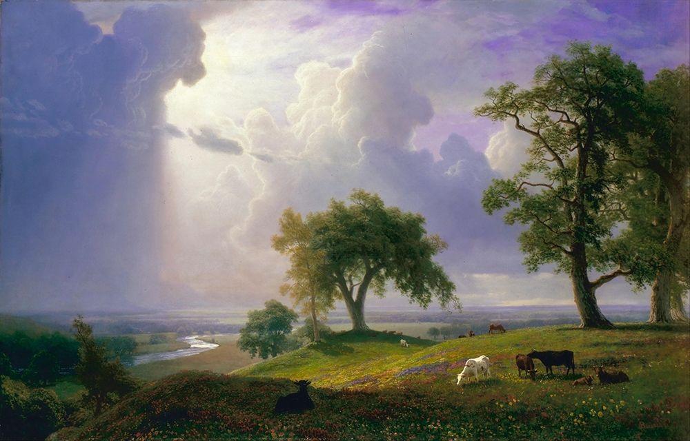 konfigurieren des Kunstdrucks in Wunschgröße California Spring von Bierstadt, Albert