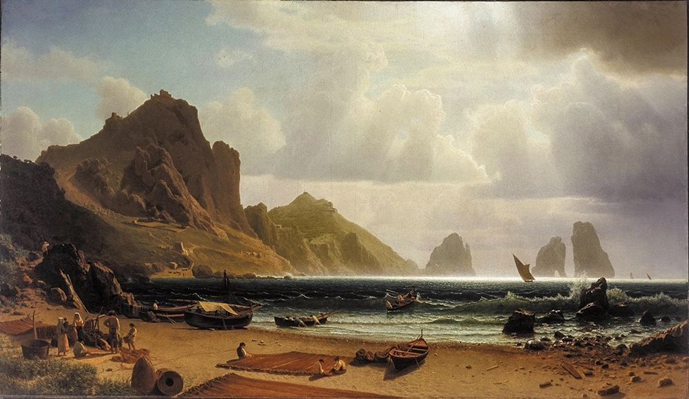 konfigurieren des Kunstdrucks in Wunschgröße The Marina Piccola, Capri von Bierstadt, Albert