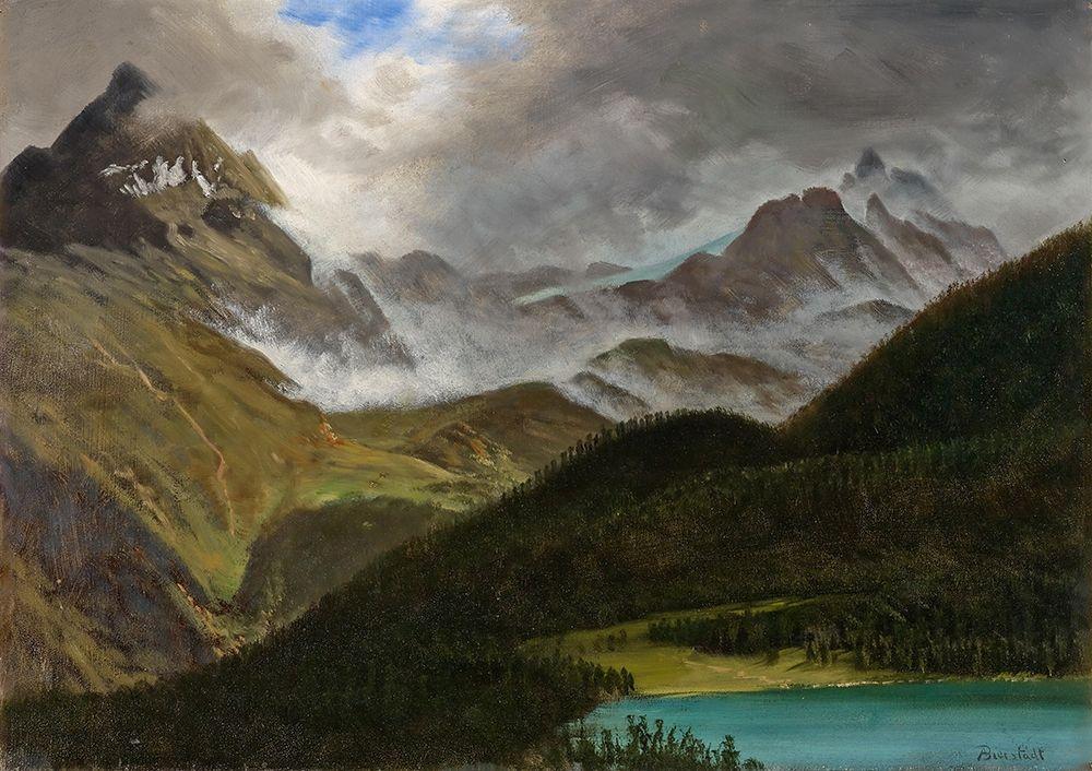 konfigurieren des Kunstdrucks in Wunschgröße Landscape von Bierstadt, Albert