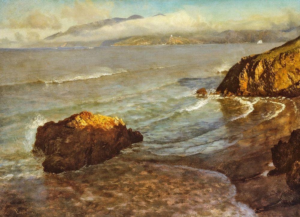 konfigurieren des Kunstdrucks in Wunschgröße Entrance to the Golden Gate von Bierstadt, Albert