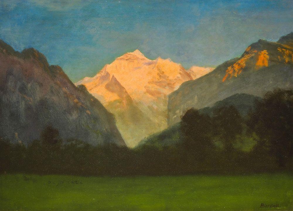 konfigurieren des Kunstdrucks in Wunschgröße View of Glacier Park von Bierstadt, Albert