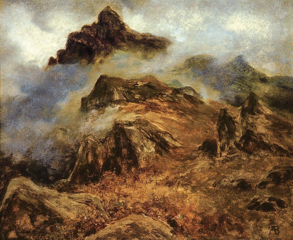 konfigurieren des Kunstdrucks in Wunschgröße Study of Rocky Mountains von Bierstadt, Albert