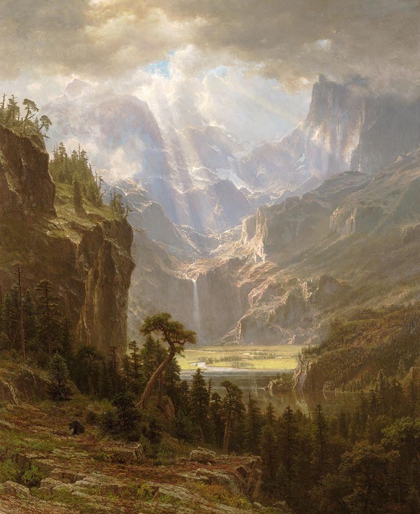 konfigurieren des Kunstdrucks in Wunschgröße Rocky Mountains, Landers Peak von Bierstadt, Albert