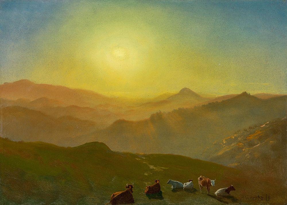 konfigurieren des Kunstdrucks in Wunschgröße Looking from the Shade on Clay Hill San Francisco von Bierstadt, Albert