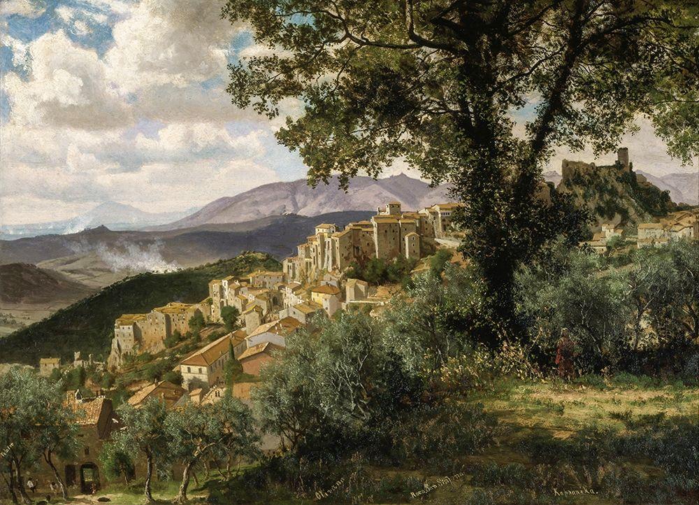 konfigurieren des Kunstdrucks in Wunschgröße Olevano von Bierstadt, Albert