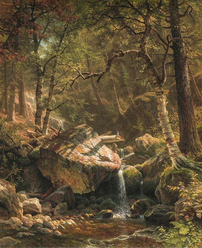 konfigurieren des Kunstdrucks in Wunschgröße Mountain Brook┬á von Bierstadt, Albert