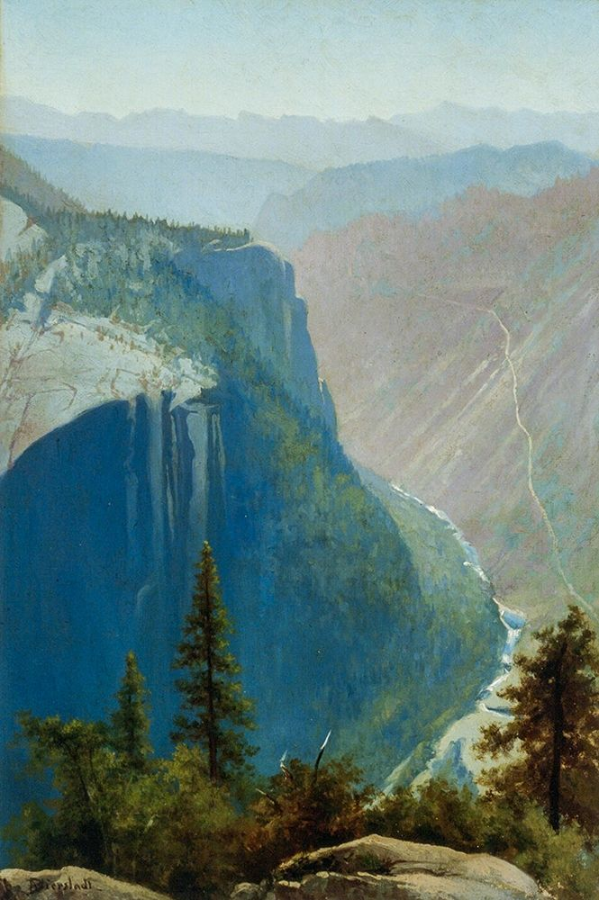 konfigurieren des Kunstdrucks in Wunschgröße Yosemite Valley von Bierstadt, Albert