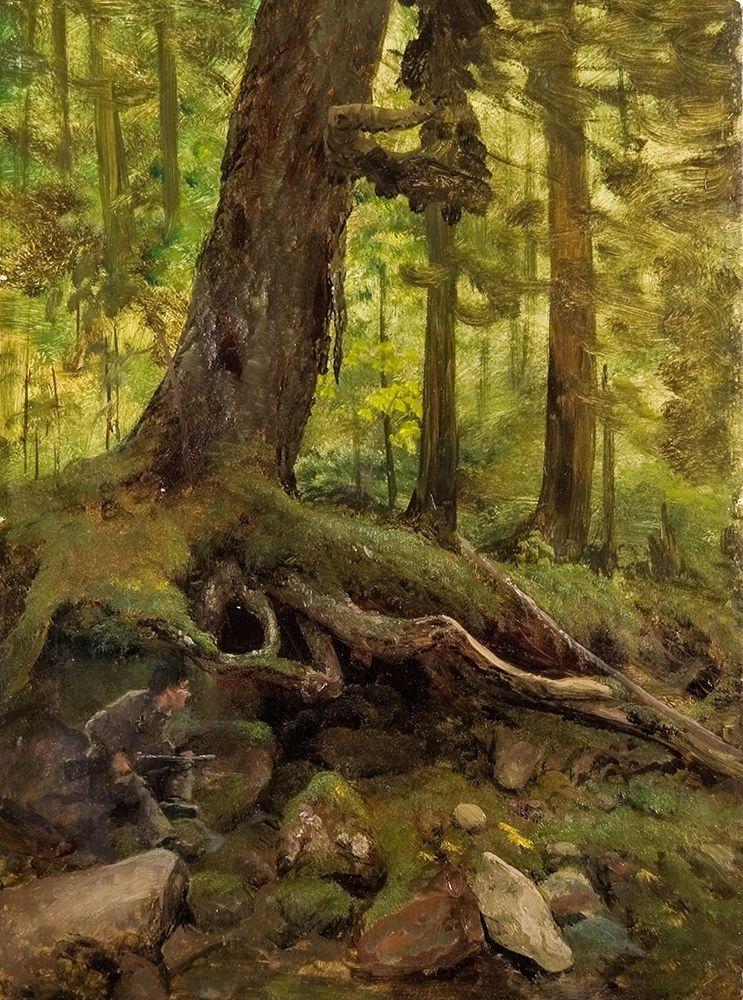 konfigurieren des Kunstdrucks in Wunschgröße Hunter in the White Mountains Near Glen House von Bierstadt, Albert