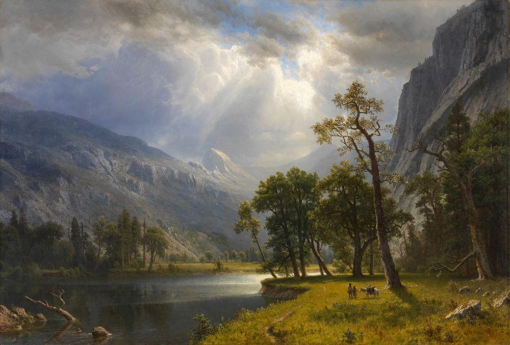 konfigurieren des Kunstdrucks in Wunschgröße Mount Starr King, Yosemite von Bierstadt, Albert