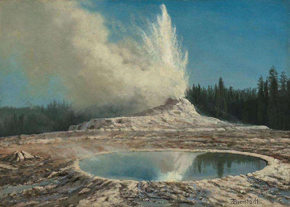konfigurieren des Kunstdrucks in Wunschgröße Geyser, Yellowstone Park von Bierstadt, Albert