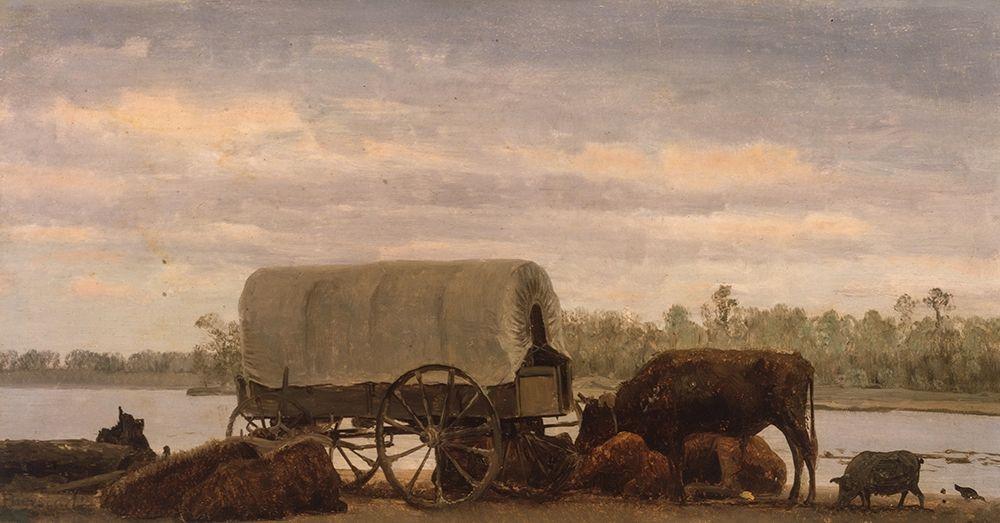 konfigurieren des Kunstdrucks in Wunschgröße Nooning on the Platte┬á von Bierstadt, Albert