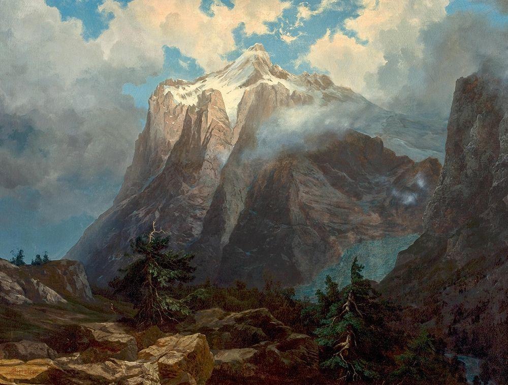 konfigurieren des Kunstdrucks in Wunschgröße Mount Brewer from Kings River Canyon, California von Bierstadt, Albert