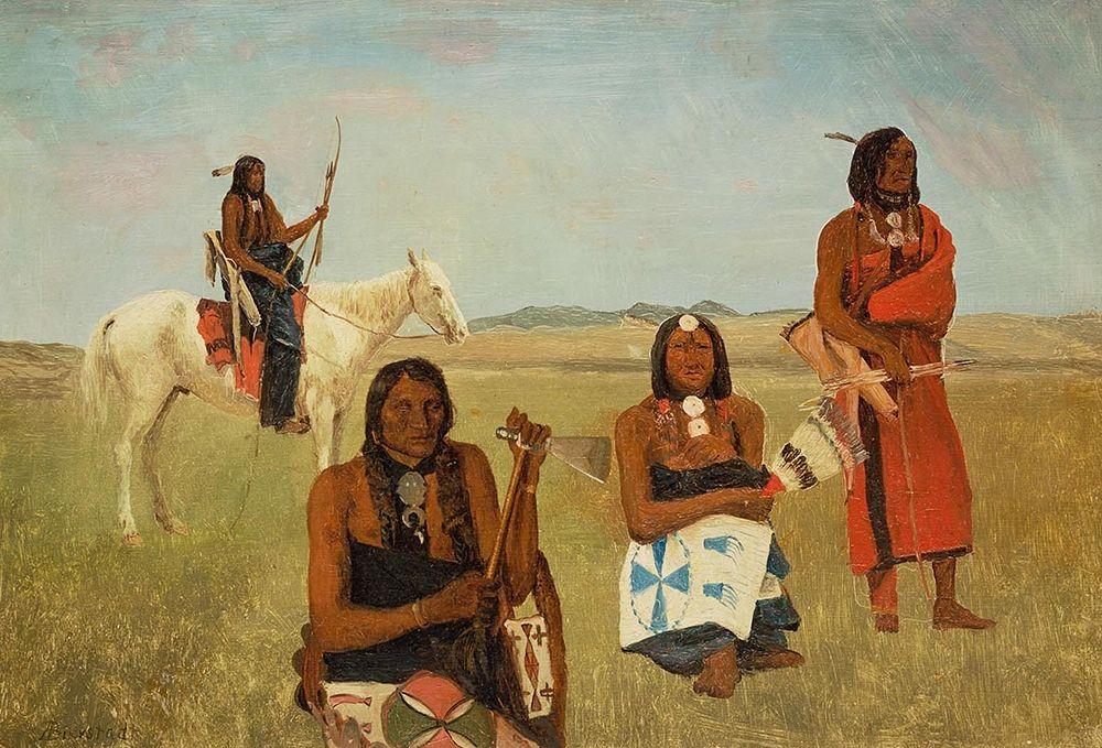 konfigurieren des Kunstdrucks in Wunschgröße Indians near Fort Laramie von Bierstadt, Albert