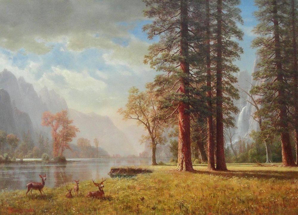 konfigurieren des Kunstdrucks in Wunschgröße The Hetch Hetchy Valley, California von Bierstadt, Albert