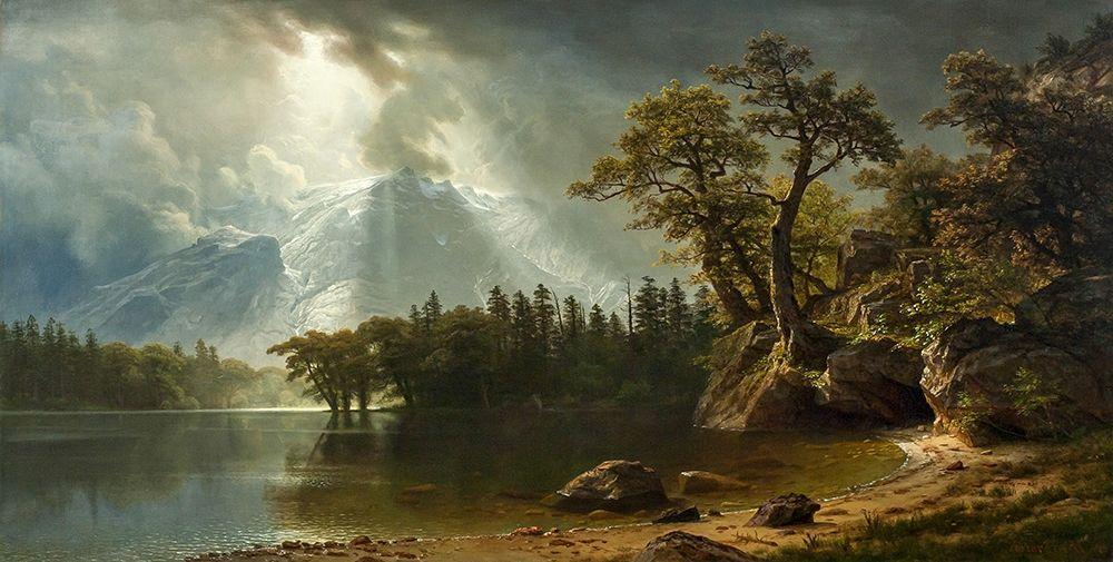 konfigurieren des Kunstdrucks in Wunschgröße Passing Storm over the Sierra Nevadas von Bierstadt, Albert