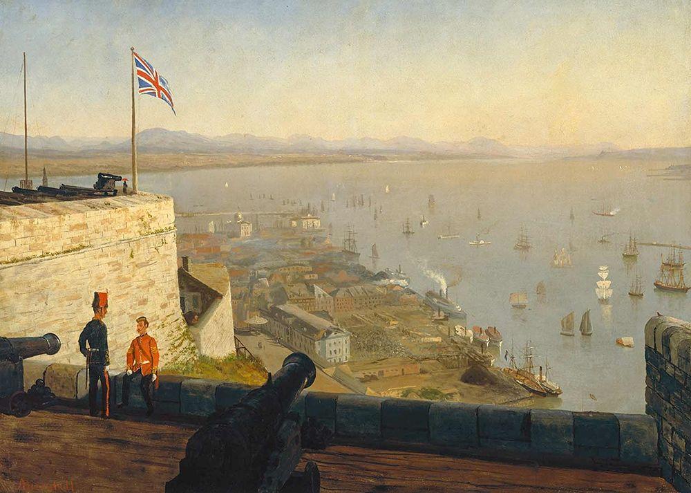 konfigurieren des Kunstdrucks in Wunschgröße St. Lawrence River, from the Citadel, Quebec von Bierstadt, Albert