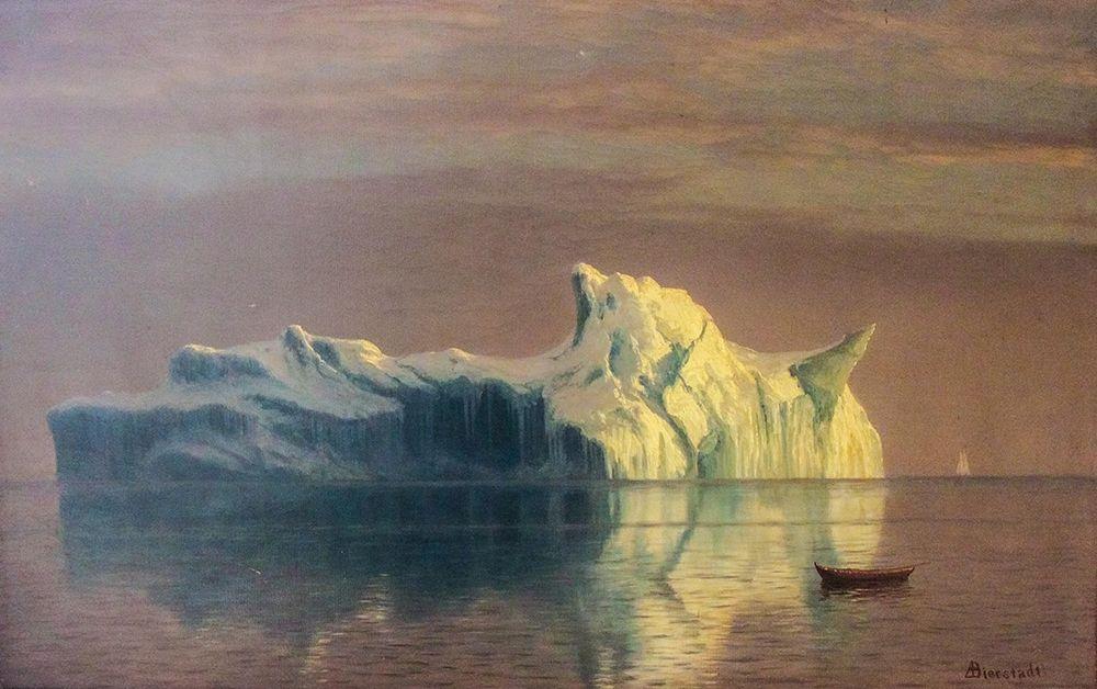 konfigurieren des Kunstdrucks in Wunschgröße The Iceberg von Bierstadt, Albert