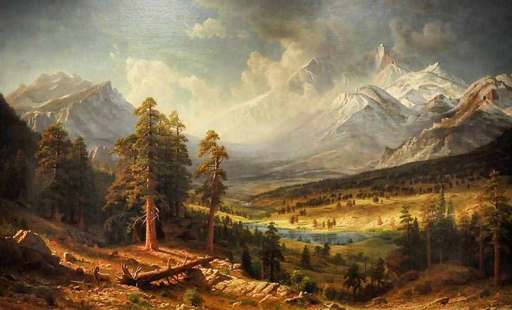 konfigurieren des Kunstdrucks in Wunschgröße Estes Park von Bierstadt, Albert