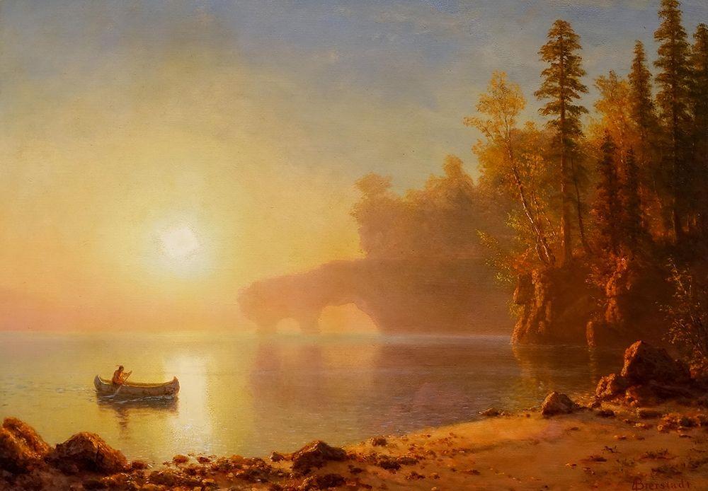 konfigurieren des Kunstdrucks in Wunschgröße Indian Canoe von Bierstadt, Albert