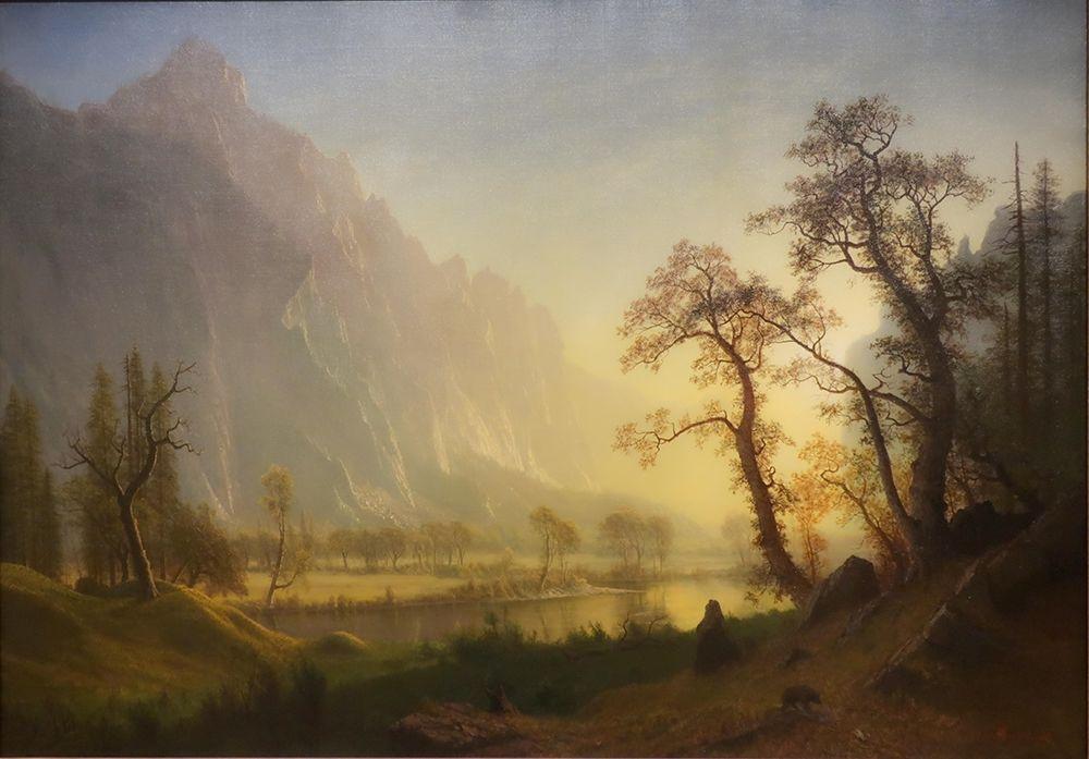 konfigurieren des Kunstdrucks in Wunschgröße Sunrise, Yosemite Valley von Bierstadt, Albert