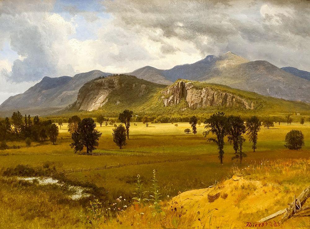 konfigurieren des Kunstdrucks in Wunschgröße Moat Mountain, Intervale, New Hampshire von Bierstadt, Albert