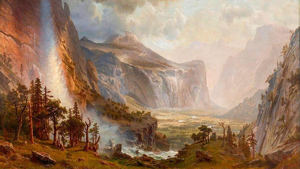 konfigurieren des Kunstdrucks in Wunschgröße The Domes of the Yosemite von Bierstadt, Albert