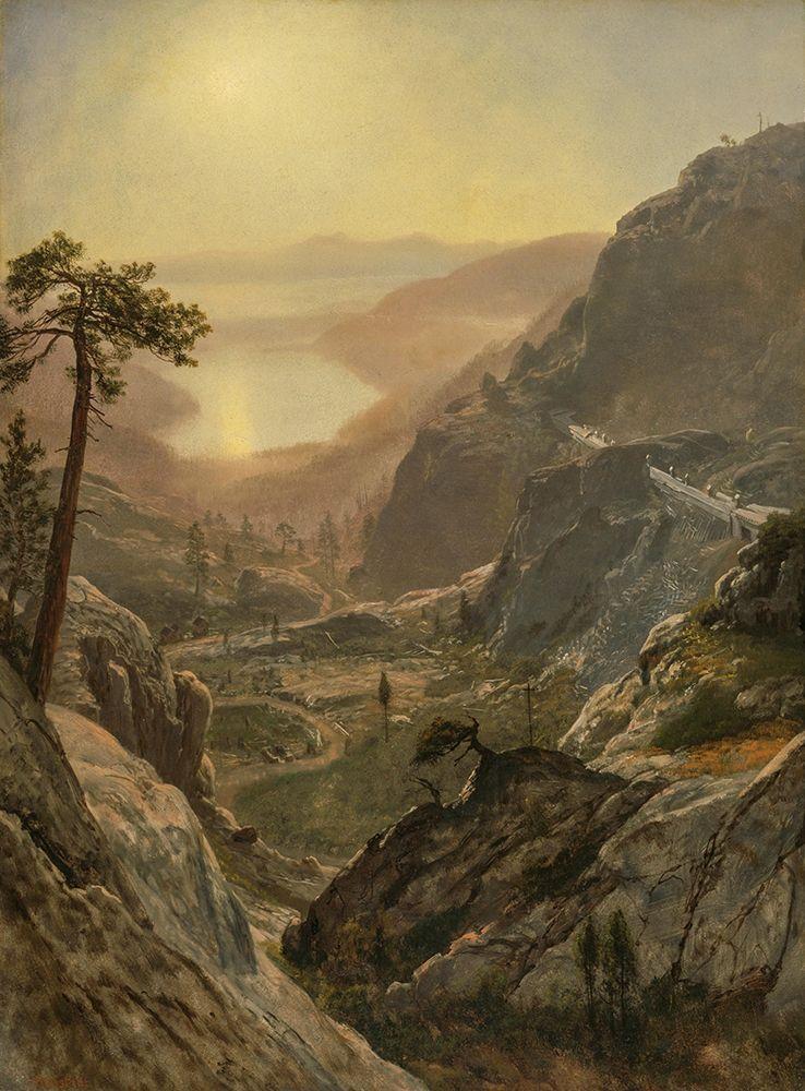 konfigurieren des Kunstdrucks in Wunschgröße View of Donner Lake von Bierstadt, Albert