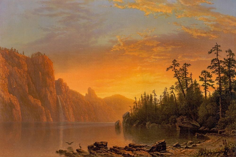 konfigurieren des Kunstdrucks in Wunschgröße Sunset California scenery von Bierstadt, Albert