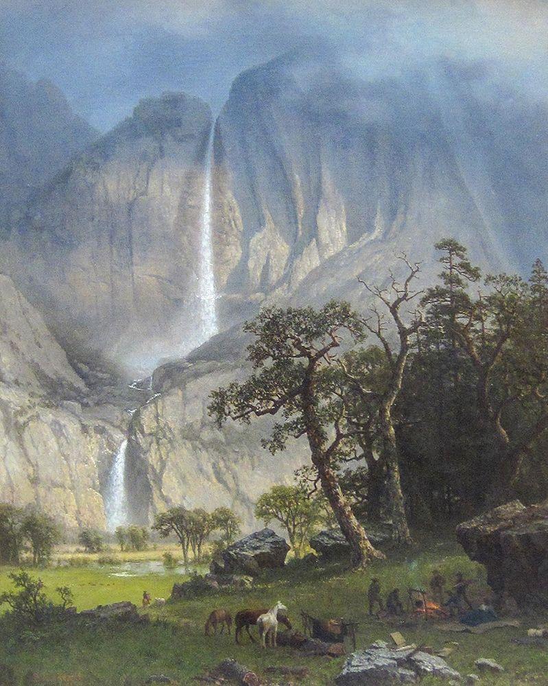 konfigurieren des Kunstdrucks in Wunschgröße Yosemite Falls von Bierstadt, Albert