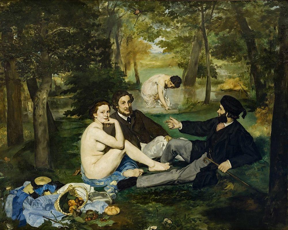 konfigurieren des Kunstdrucks in Wunschgröße Luncheon on the Grass von Manet, Edouard