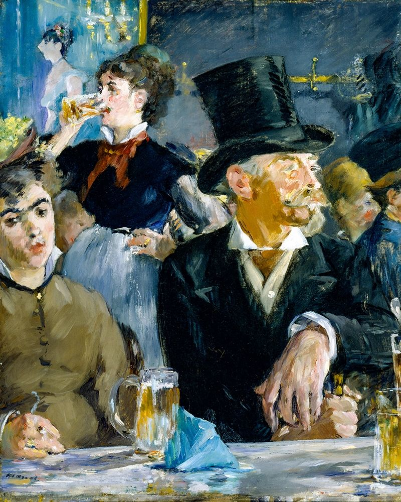konfigurieren des Kunstdrucks in Wunschgröße At the Cafe von Manet, Edouard