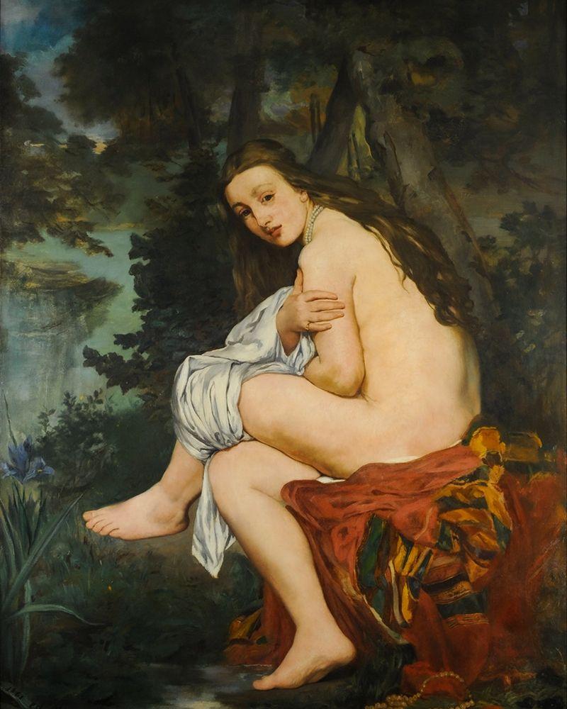 konfigurieren des Kunstdrucks in Wunschgröße La Nymphe surprise von Manet, Edouard