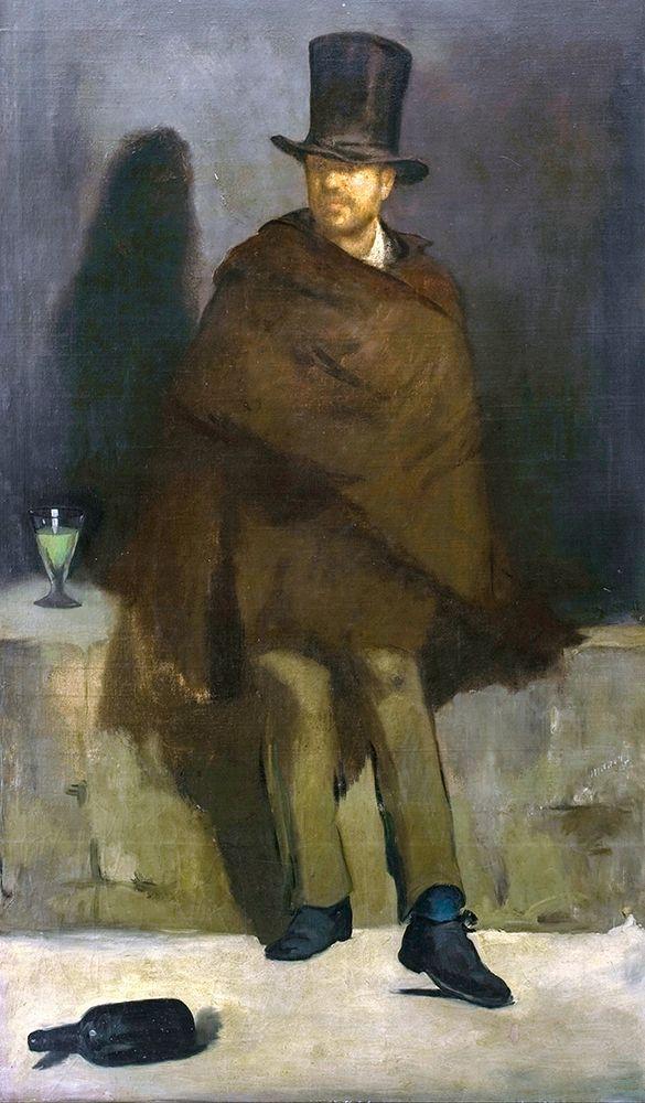 konfigurieren des Kunstdrucks in Wunschgröße The Absinthe Drinker von Manet, Edouard