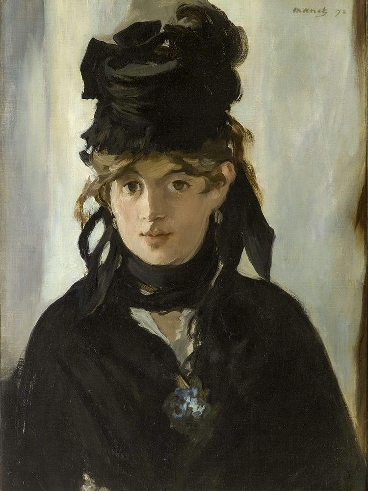 konfigurieren des Kunstdrucks in Wunschgröße Berthe Morisot With a Bouquet of Violets von Manet, Edouard