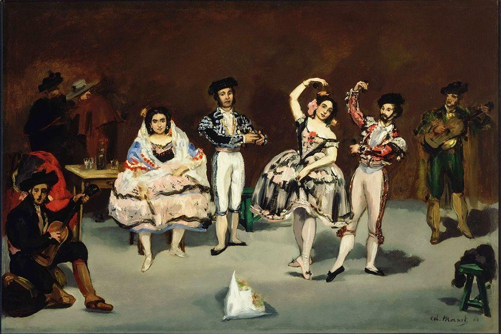konfigurieren des Kunstdrucks in Wunschgröße Spanish Ballet von Manet, Edouard