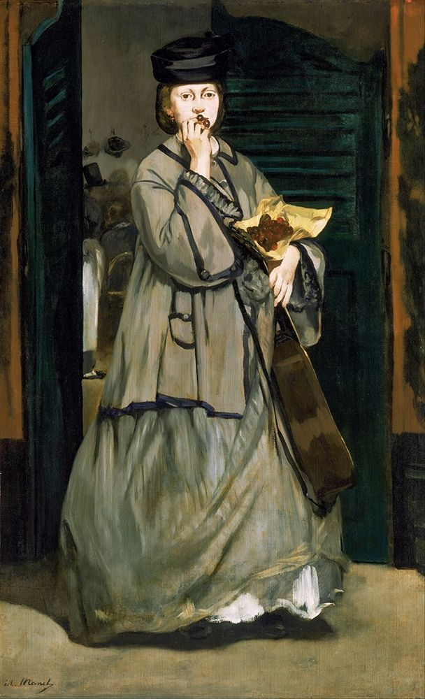 konfigurieren des Kunstdrucks in Wunschgröße Street Singer von Manet, Edouard