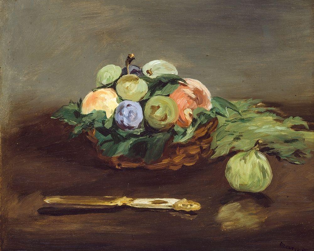 konfigurieren des Kunstdrucks in Wunschgröße Basket of Fruit von Manet, Edouard